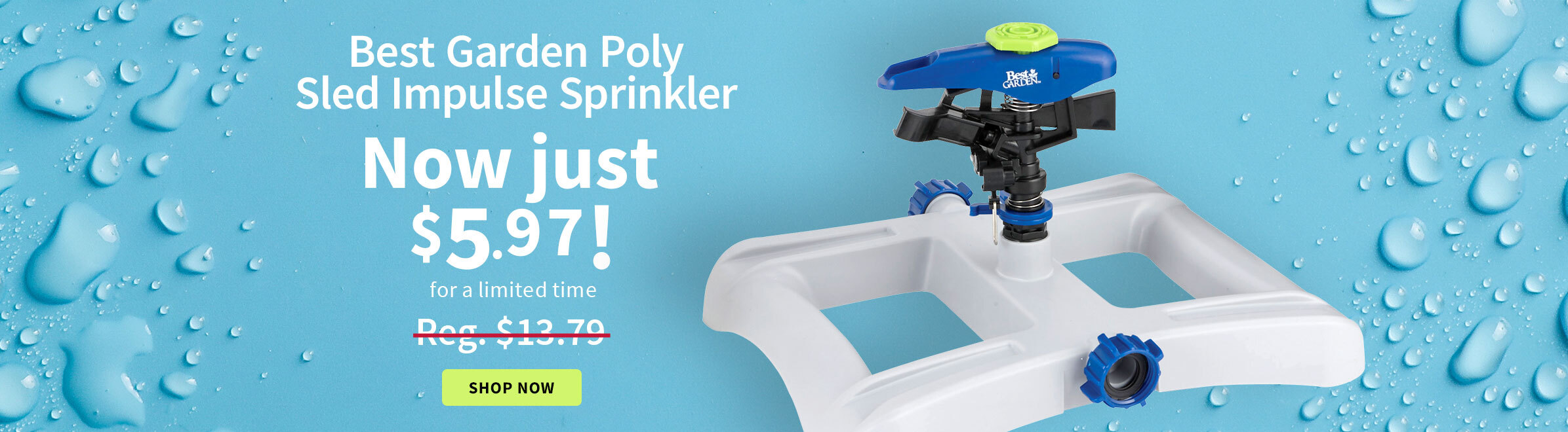 Best Garden Sled Impulse Sprinkler