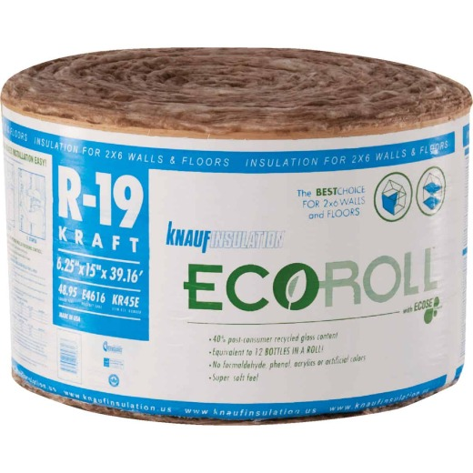 Knauf R-19 15 In. X 39 Ft. Standard Kraft Faced Roll Fiberglass Insulation