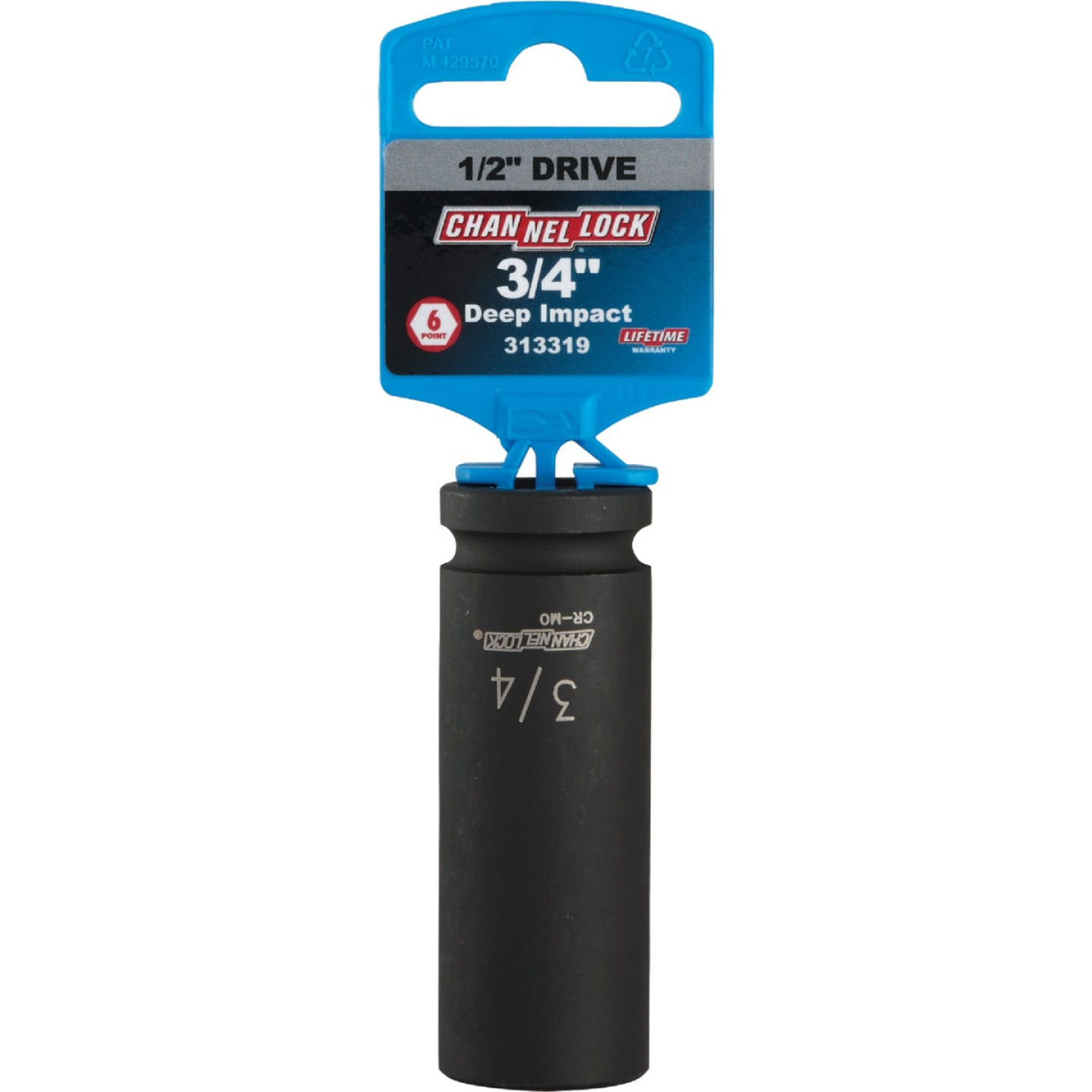 Channellock 1/2 In. Drive 3/4 In. 6-Point Deep Standard Impact Socket Image 2
