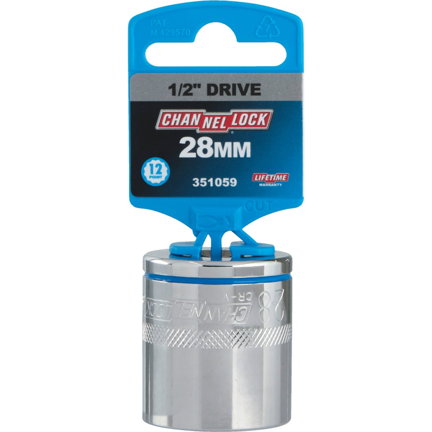 Channellock 1/2 In. Drive 28 mm 12-Point Shallow Metric Socket Image 2