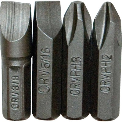 Great Neck Insert Impact Screwdriver Bit Set (4-Piece)