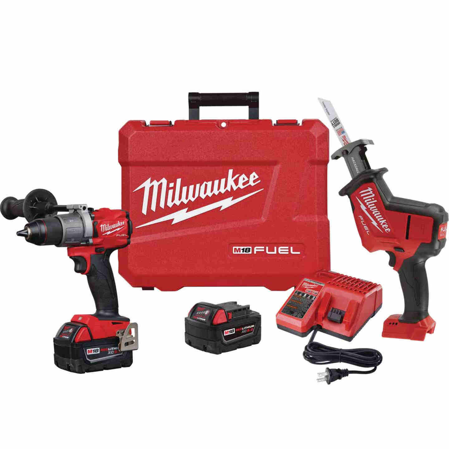 Milwaukee 2-Tool M18 FUEL 18 Volt Lithium-Ion Brushless Hammer Drill/Reciprocating Saw Cordless Tool Combo Kit Image 1