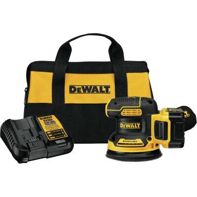 DeWalt 20 Volt MAX XR Lithium-Ion 5.0 Ah Brushless Random Orbit Cordless Finish Sander Kit