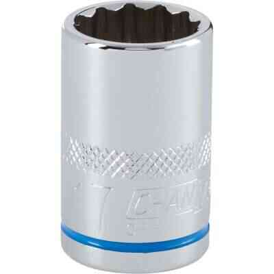 Channellock 1/2 In. Drive 17 mm 12-Point Shallow Metric Socket