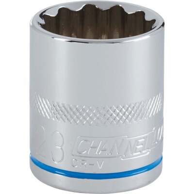 Channellock 1/2 In. Drive 23 mm 12-Point Shallow Metric Socket
