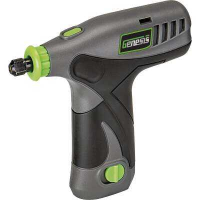 Genesis 8 Volt Lithium-Ion Variable Speed Cordless Rotary Tool Kit with 65 Accessories