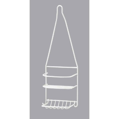 Homz Steel 6-1/2 In. x 18 In. Shower Caddy
