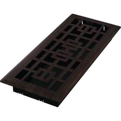 Imperial Tokyo 4 In. x 12 In. Oil-Rubbed Bronze Steel Floor Register