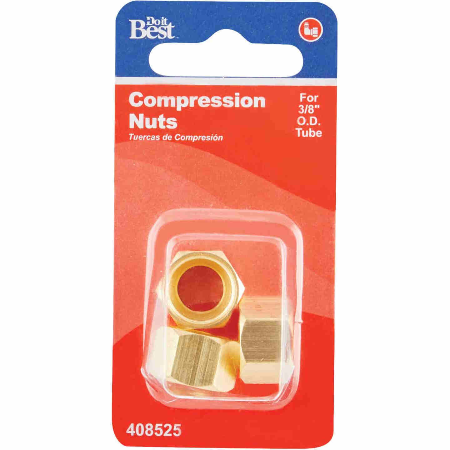 Do it 3/8 In. OD Brass Compression Nut (3-Pack) Image 2