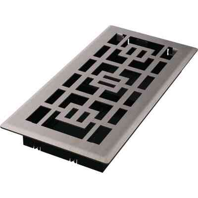 Imperial Tokyo 4 In. x 10 In. Brushed Nickel Steel Floor Register