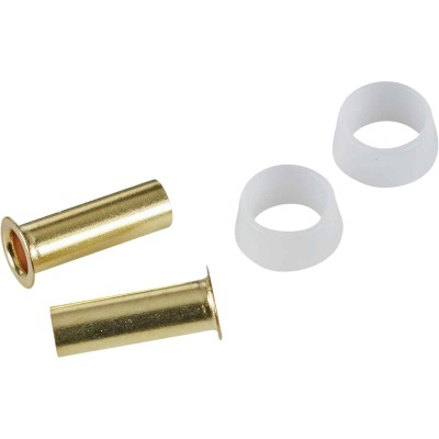 Do it 1/4 In. Brass Compression Insert (2-Pack)