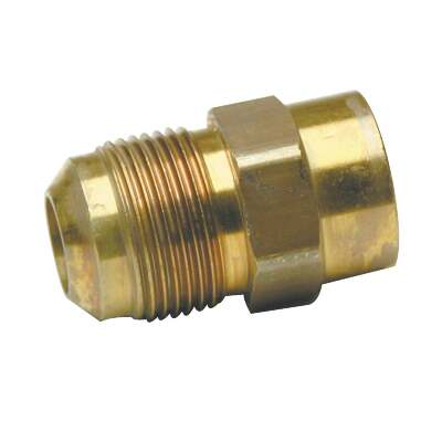 Dormont 5/8 In. OD Male Flare x 1/2 In. FIP Zinc-Plated Carbon Steel Adapter Gas Fitting, Bulk