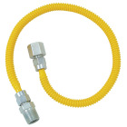 Dormont 3/8 In. OD x 24 In. Coated Stainless Steel Gas Connector, 1/2 In. FIP x 1/2 In. MIP (Tapped 3/8 In. FIP) Image 1