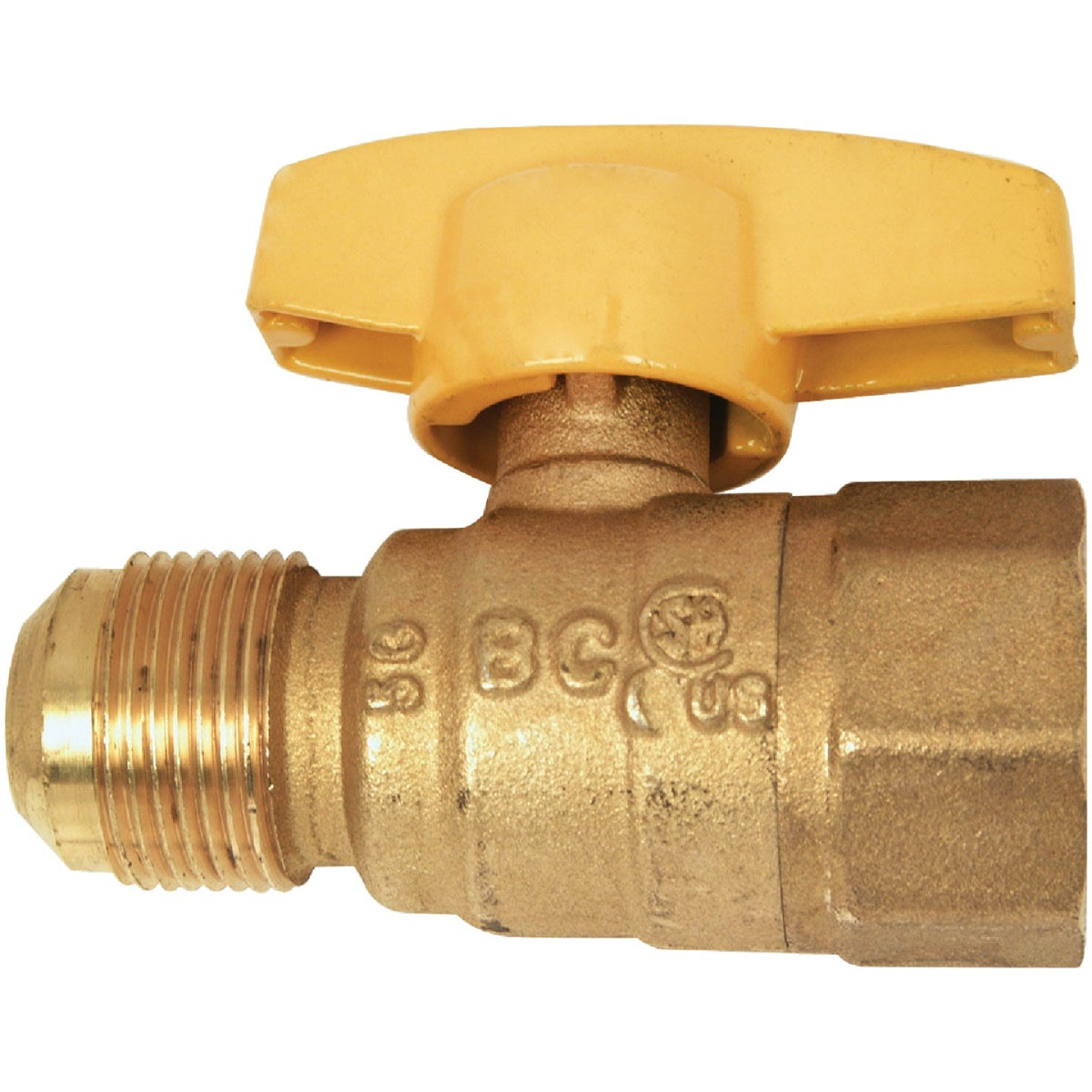 Dormont 5/8 In. OD Male Flare x 3/4 In. FIP Forged Brass Gas Shutoff Valve Image 1