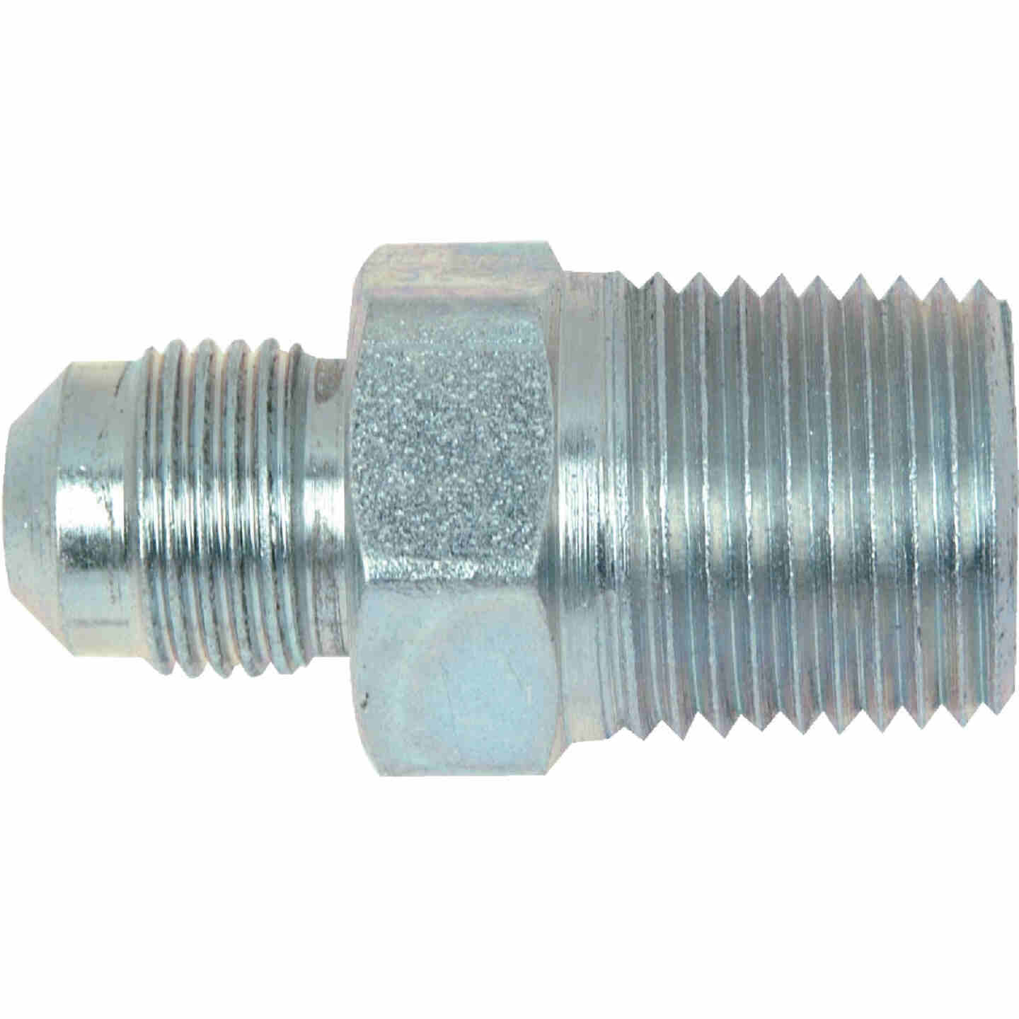 Dormont 3/8 In. OD Flare x 1/2 In. MIP (tapped 3/8 In. FIP) Brass Adapter Gas Fitting Image 1