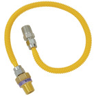 Dormont 3/8 In. OD x 24 In. Coated Stainless Steel Gas Connector, 1/2 In. MIP (Tapped 3/8 In. FIP) x 1/2 In. MIP SmartSense Image 1