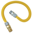 Dormont 5/8 In. OD x 36 In. Coated Stainless Steel Gas Connector, 1/2 In. MIP (Tapped 3/8 In. FIP) x 1/2 In. MIP SmartSense Image 1