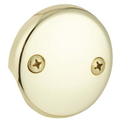 Do it Two-Hole Polished Brass Bath Drain Face Plate