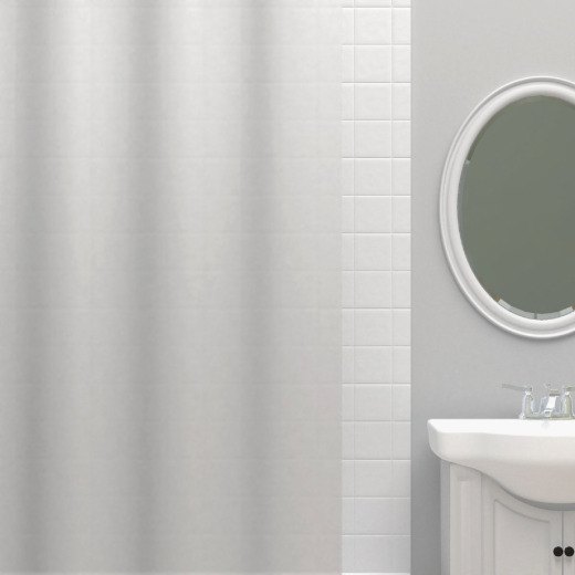 Zenna Home 70 In. x 72 In. Frosty Lightweight PEVA Shower Curtain Liner