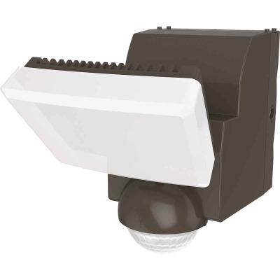 IQ America Bronze Motion Sensing LED Solar Powered Security Light Fixture, 700-Lumen