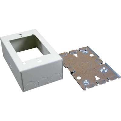Wiremold Ivory Steel 1-3/4 In. Outlet Box