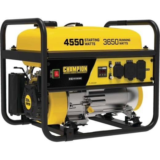 Champion 3650W Gasoline Powered Recoil Pull Start Portable Generator (California Compliant)
