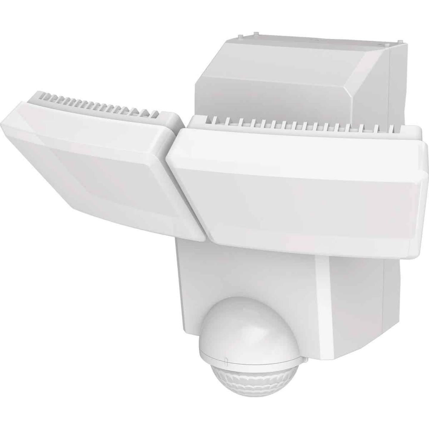 IQ America White Motion Sensing LED Solar Powered Security Light Fixture, 1400-Lumen Image 1
