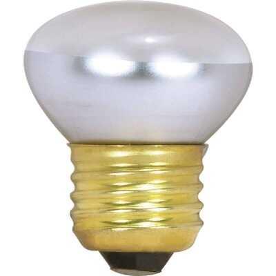 Satco 25W Clear Medium Base R14 Stubby Reflector Incandescent Floodlight Light Bulb