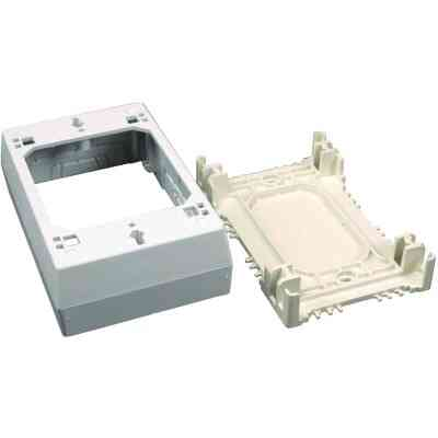 Wiremold CordMate White Plastic 1-3/8 In. Outlet Box