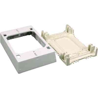 Wiremold CordMate White Plastic 1-3/4 In. Extra Deep Outlet Box