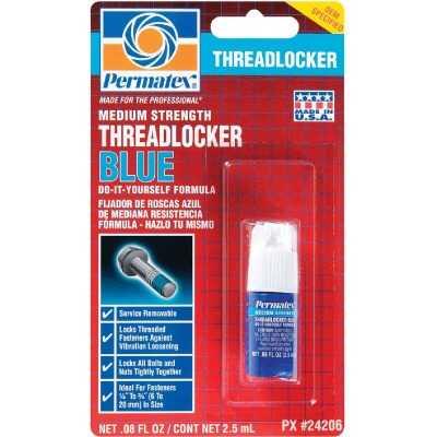 PERMATEX 0.08 Oz. Blue Medium Strength Threadlocker