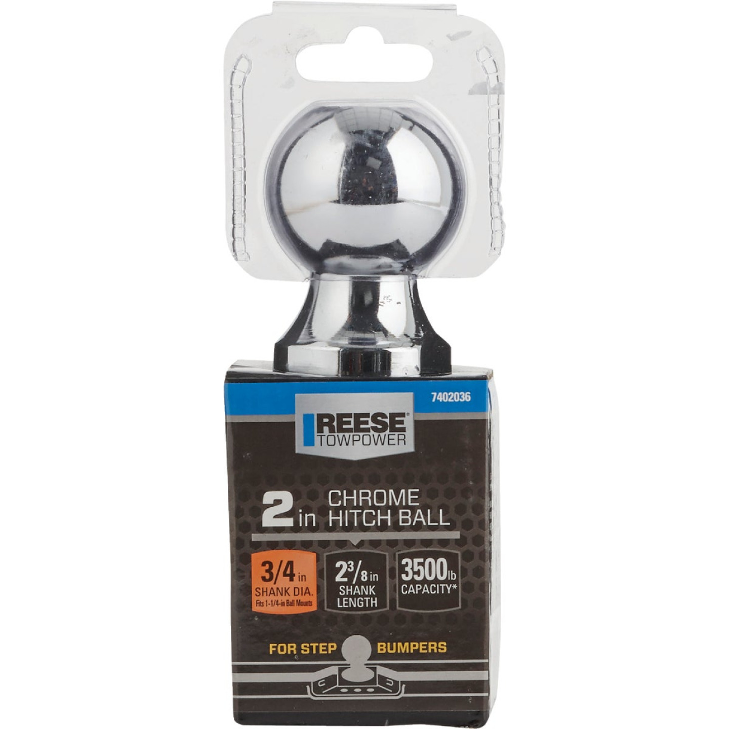 Reese Towpower 2 In. x 3/4 In. x 2-3/8 In. Hitch Ball Image 2