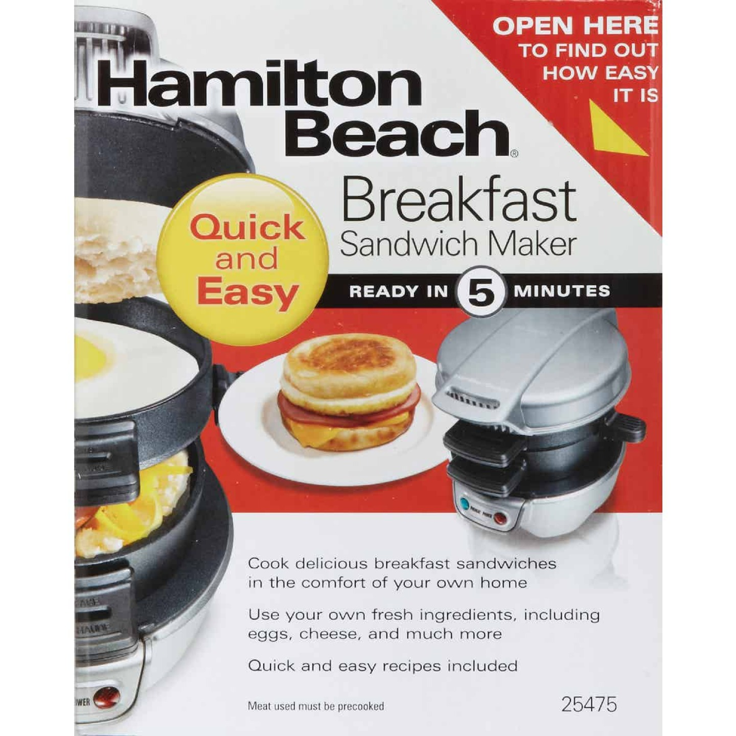 Hamilton Beach Breakfast Sandwich Maker Image 4