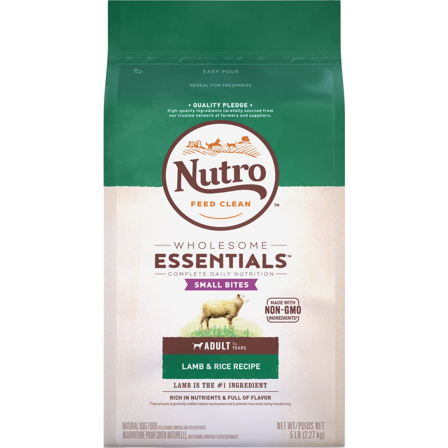 Nutro Wholesome Essentials Small Bite 5 Lb. Lamb & Rice Adult Dry Dog Food Image 1