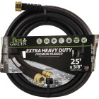 Best Garden 5/8 In. Dia. x 25 Ft. L. Drinking Water Safe Rubber Garden Hose Image 1