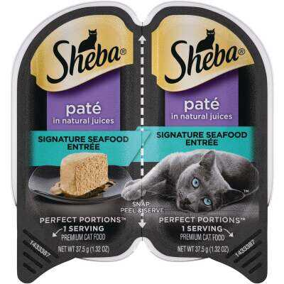 Sheba Perfect Portions Pate 2.6 Oz. Adult Signature Seafood Wet Cat Food