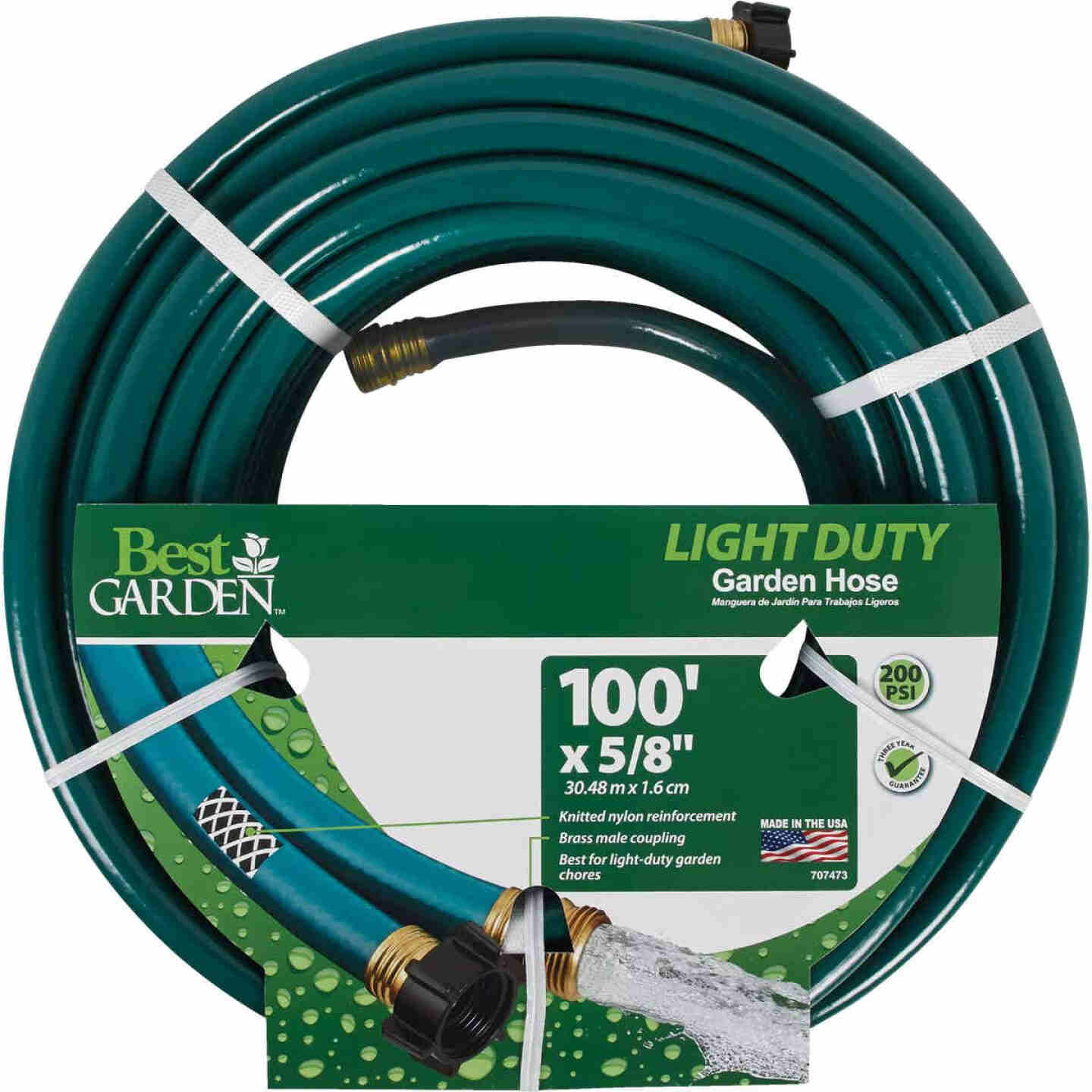 Best Garden 5/8 In. x Dia. 100 Ft. L. Light-Duty Garden Hose Image 1