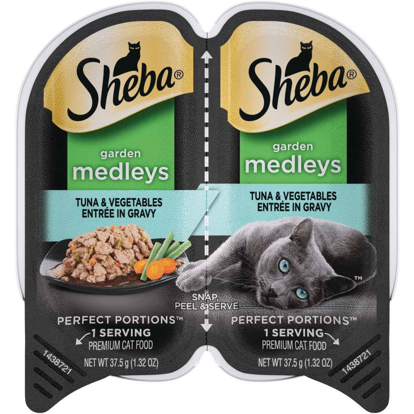 Sheba Perfect Portions Garden Medleys 2.6 Oz. Adult Tuna & Vegetables Wet Cat Food Image 1
