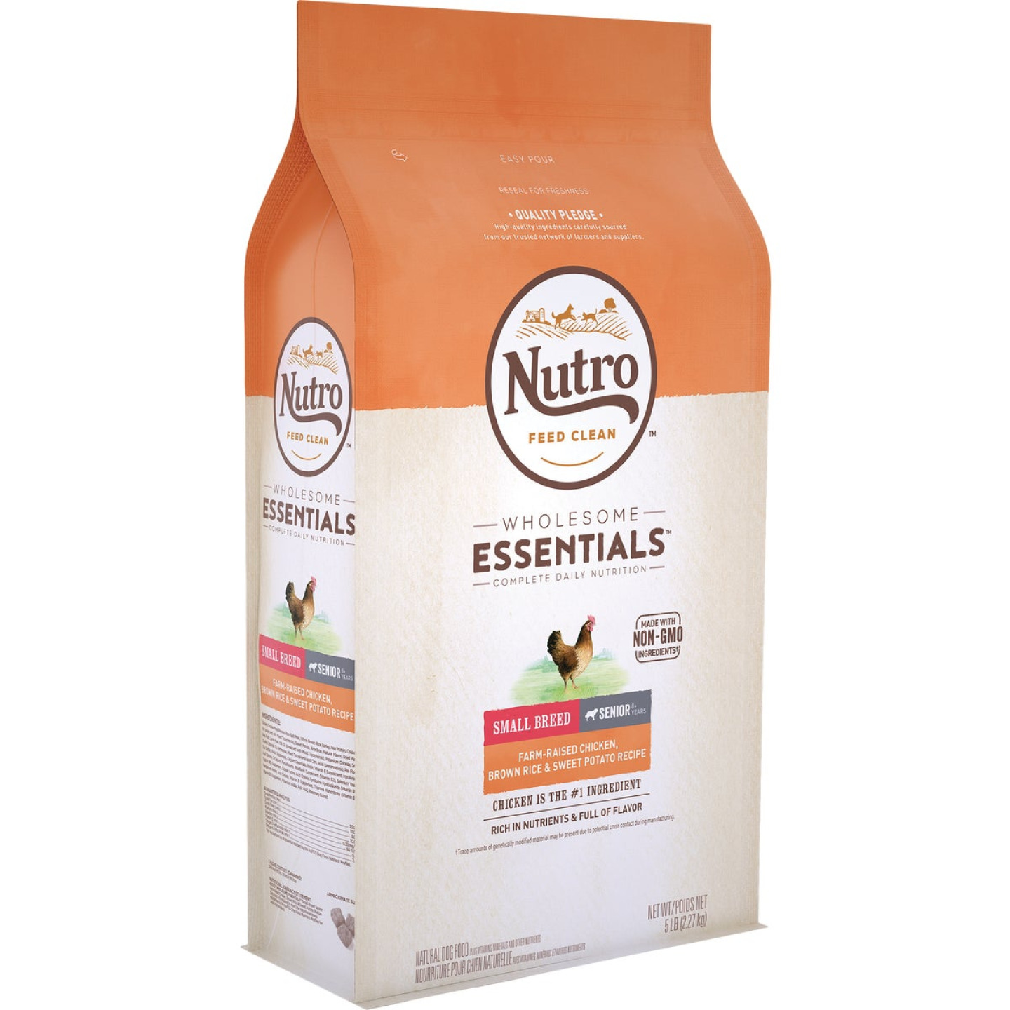 Nutro Wholesome Essentials 5 Lb. Chicken, Brown Rice, & Sweet Potato Small Breed Senior Dry Dog Food Image 1