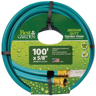 Flexon 5/8 In. Dia. x 100 Ft. L. Medium-Duty Vinyl Garden Hose W/Guard-N-Grip