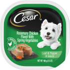 Cesar Loaf & Topper Rosemary Chicken w/Spring Vegetables Adult Wet Dog Food, 3.5 Oz. Image 1