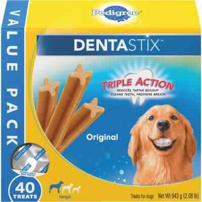 Pedigree Dentastix Large Dog Original Flavor Dental Dog Treat (40-Pack)