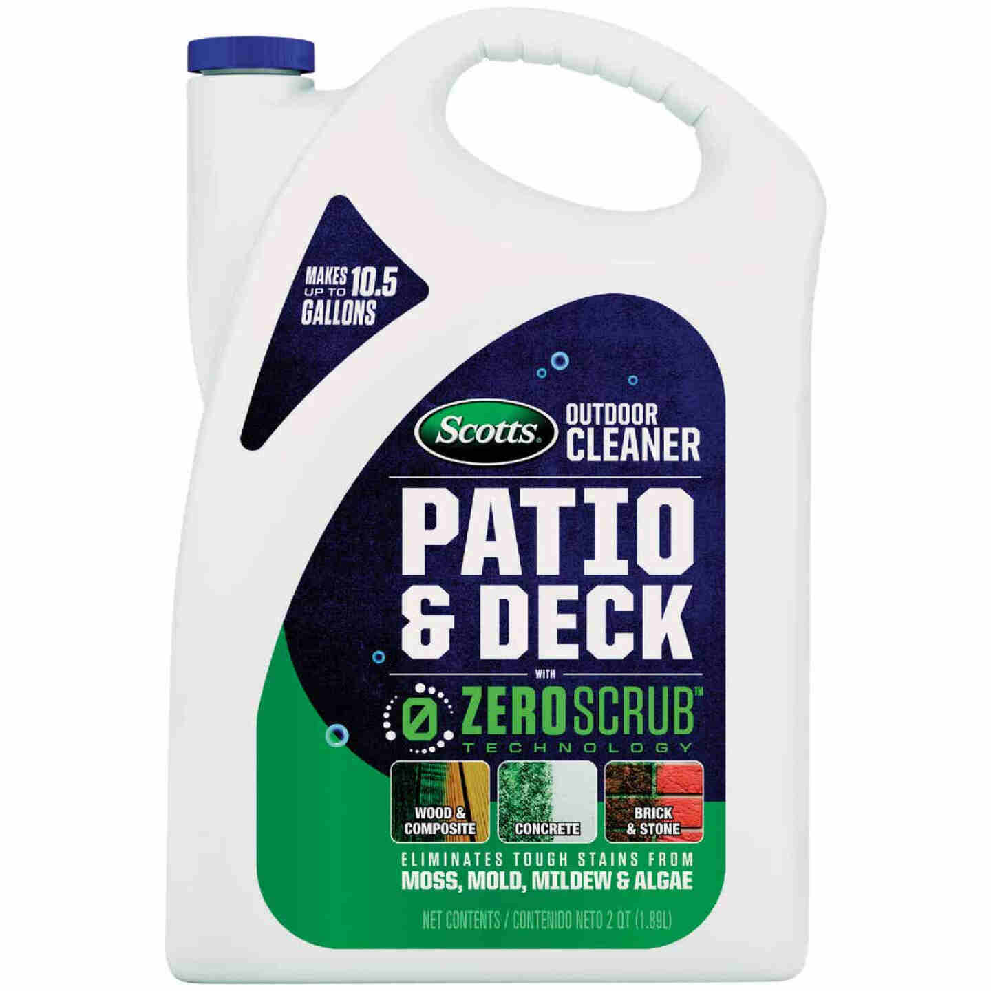 Scotts ZeroScrub 1/2 Gal. Concentrate Patio & Deck Outdoor Cleaner Image 1