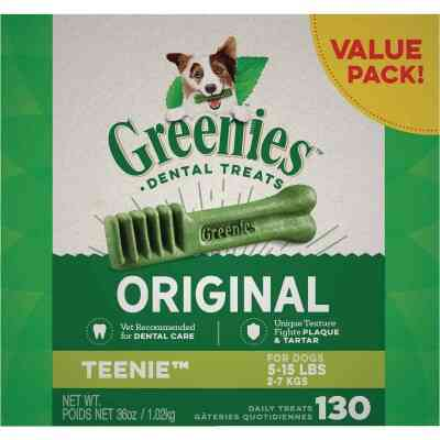 Greenies Teenie Toy Dog Original Flavor Dental Dog Treat (130-Pack)