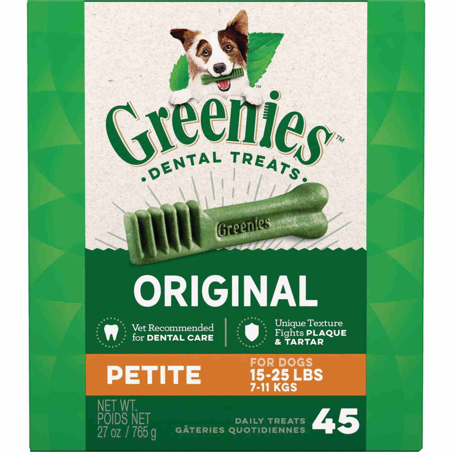 Greenies Petite Small Dog Original Flavor Dental Dog Treat (45-Pack) Image 1
