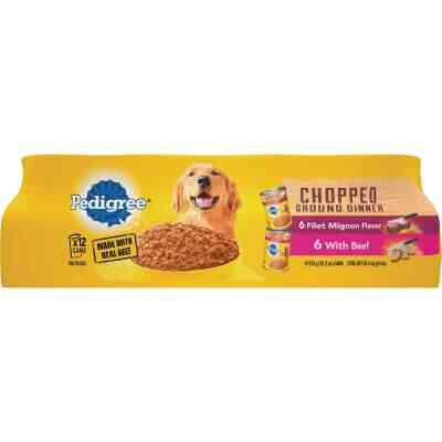 Pedigree Traditional Chopped Ground Dinner Filet Mignon/Beef Variety Wet Dog Food (12-Pack)