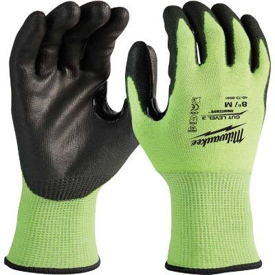 Milwaukee Men's Medium Cut Level 3 High Vis Nitrile Dipped Glove