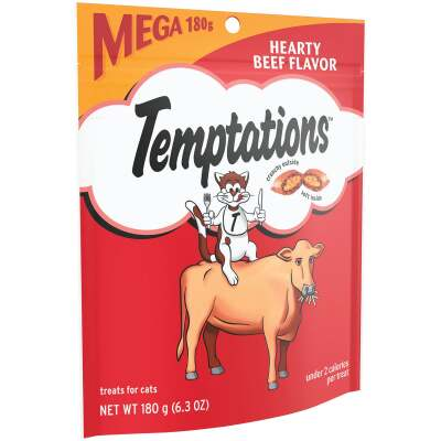 Temptations Hearty Beef 6.3 Oz. Cat Treats