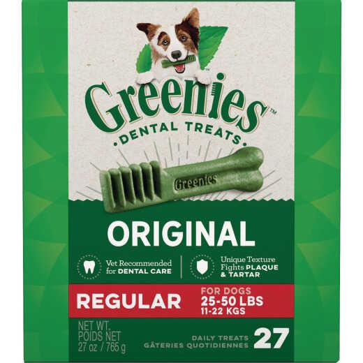 Greenies Regular Medium Dog Original Flavor Dental Dog Treat (27-Pack)
