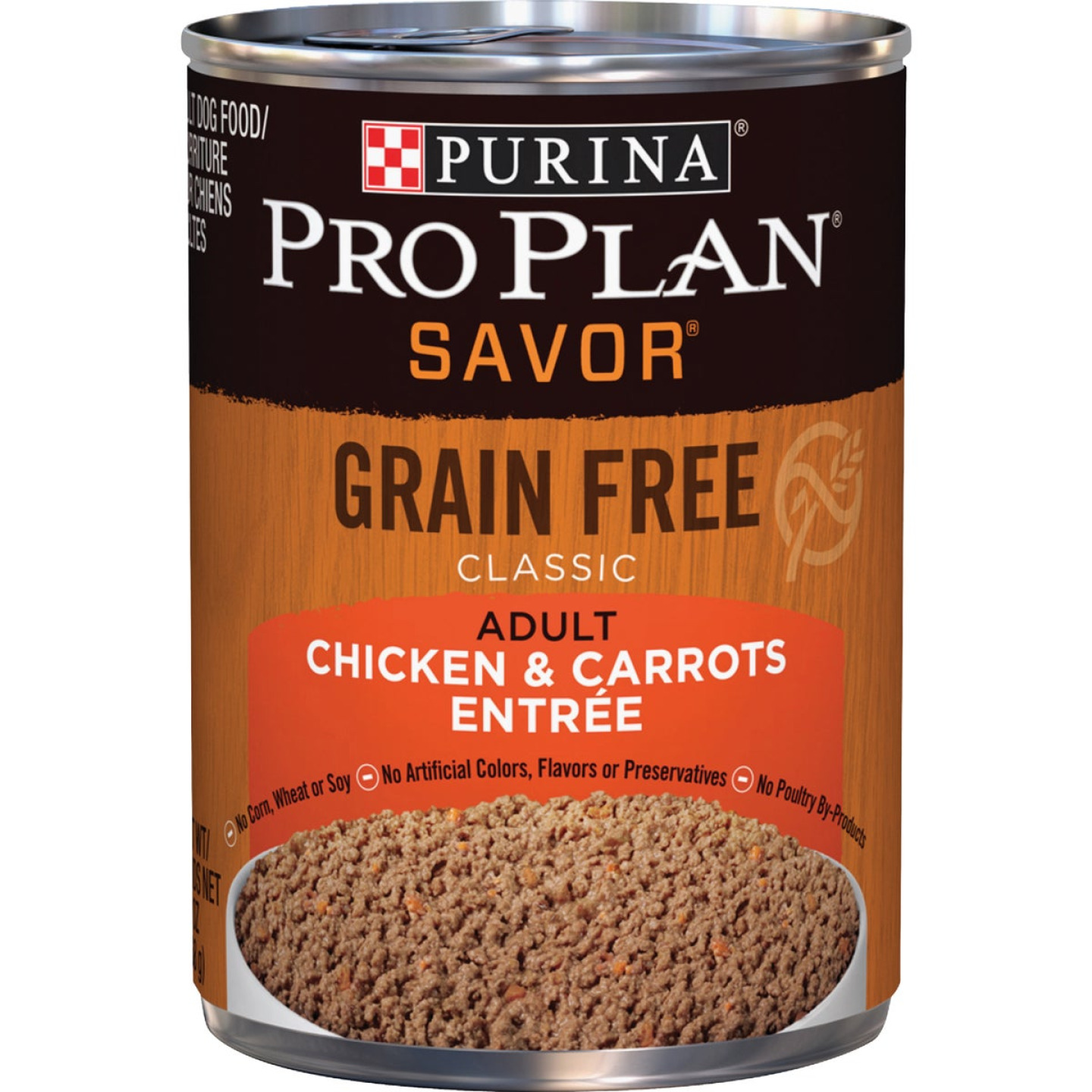 Purina Pro Plan Savor Chicken & Carrot Adult Grain Free Wet Dog Food, 13 Oz. Image 1